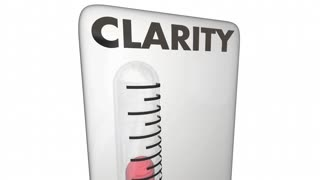 Clarity Thermometer Measure Clear Communication Level 3 D Animation