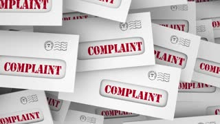 Complaint Angry Customer Feedback Envelopes 3 D Animation