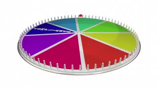 Compliance Rules Laws Follow Comply Game Show Spinning Wheel 3 D Animation