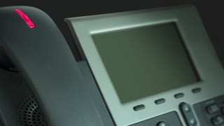 Conference Call Telephone Words Meeting Scheduled 3 D Animation