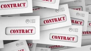 Contract Legal Document Agreement Envelopes 3 D Animation