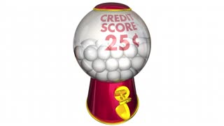 Credit Score Gumball Machine Better Improved Rating 3 D Animation