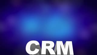 Crm Customer Relationship Management Software System Word Collage 3 D Animation