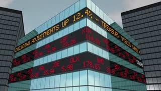 Crowdfunding Business Capital Raising Funds Stock Market Ticker 3 D Animation