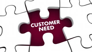 Customer Need Meet It Puzzle Pieces 3 D Animation