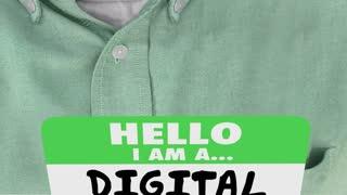 Digital Marketer Online Marketing Professional Name Tag 3 D Animation
