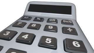 Do The Math Solve Problem Calculator Words 3 D Animation