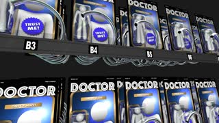 Doctor Choices Vending Machine Pick Best Physician 3 D Animation
