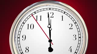 Dont Be Late Clock Running Behind Time 3 D Animation