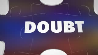 Doubt Vs Belief Faith Hope Puzzle Words 3 D Animation