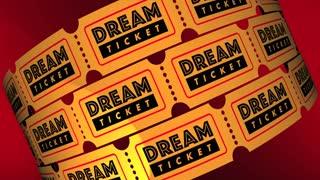 Dream Ticket Travel Destination Spot Vacation Holiday Tickets 3 D Animation