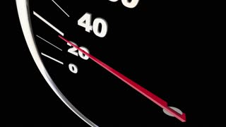 Electric Car Vehicle Automobile Charging Speedometer Word 3 D Animation