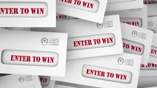 Enter To Win Submit Entry Contest Raffle Envelopes 3 D Animation