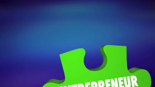Entrepreneur Qualities Determination Adpatability Puzzle 3 D Animation
