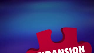 Expansion Grow Enlarge Multiply Puzzle Pieces 3 D Animation