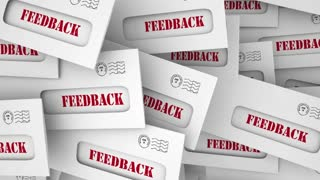 Feedback Comments Opinions Letters Envelope Pile 3 D Animation