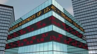 Fintech Stock Market Ticker Financial Services 3 D Animation