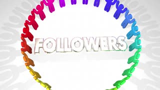 Followers People Fan Base Social Media Audience 3 D Animation