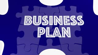 Funding Business Plan New Company Startup Money Funds Puzzle 3 D Animation
