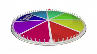 Game Night Show Wheel Spinning Fun Playing 3 D Animation
