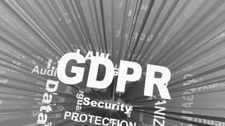 Gdpr General Data Protection Regulation Word Collage 3 D Animation