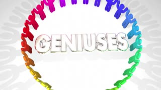 Geniuses Smart People Ring Intelligence 3 D Animation