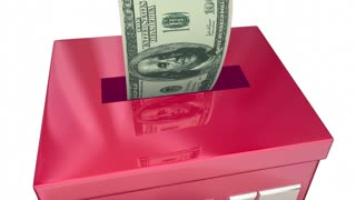 Give Money Collection Donation Box Charity 3 D Animation