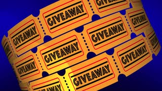 Giveaway Free Gift Offer Premium Tickets 3 D Animation