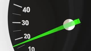 Go Speedometer Word Start Begin Race Competition 3 D Animation