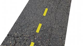 Go Your Own Way Be Independent Road Words 3 D Animation