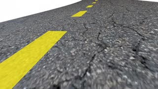 Goal Road Word Driving Forward Momentum Ahead 3 D Animation