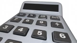 Growth Calculator Adding Income Money Increase Savings 3 D Animation