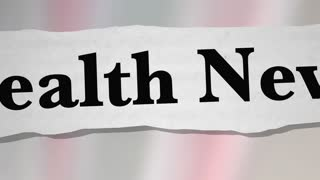 Health News Headlines Newspaper Reports 3 D Animation