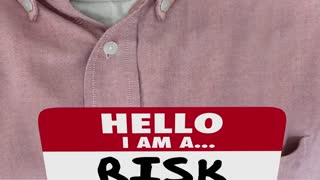 Hello Im A Risk Taker Bold Brave Courage Name Tag 3 D Animation