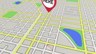 Here Map Pin This Location Navigation 3 D Animation