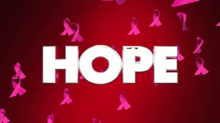 Hope Breast Cancer Ribbons Faith Belief F Ind Cure 3 D Animation