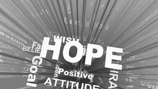 Hope Positive Attitude Outlook Optimism Faith Words 3 D Render Animation