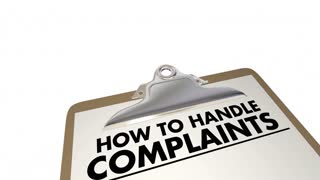 How To Handle Complaints Customer Service Checklist 3 D Animation