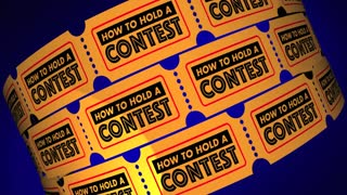 How To Hold A Contest Competition Information Tickets 3 D Animation