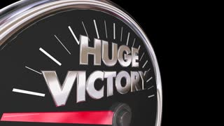 Huge Victory Speedometer Win Race Competition 3 D Animation