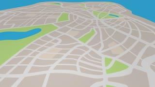 Hyperlocal Location Community Map Pin Word 3 D Animation