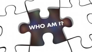 Identity Who Am I Puzzle Pieces 3 D Animation