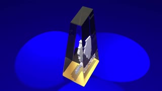 Illinois Il State Map Award Best Prize Trophy 3 D Animation