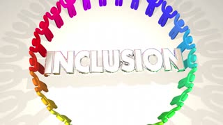 Inclusion People Together Include Diversity Word 3 D Animation