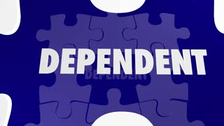 Independence Vs Dependent Self Reliant Puzzle Words 3 D Animation