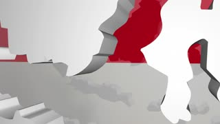 Indonesia Country Nation Map Asia Flag 3 D Animation