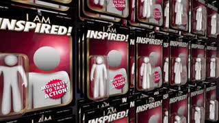 Inspired Motivated Positive Attitude Action Figure 3 D Animation