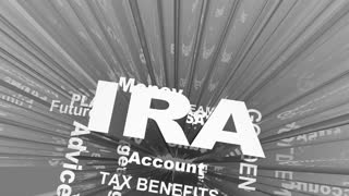 Ira Individual Retirement Account Savings Plan Word Collage 3 D Animation