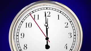 Its Never Too Late Time Clock Passing Words 3 D Animation