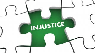 Justice Vs Injustice Fight For Fairness Rights Puzzle 3 D Animation